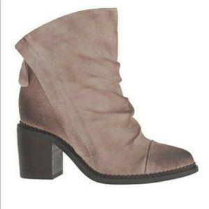 Sbicca Millie Oiled Suede Ankle Booties Boots 8.5